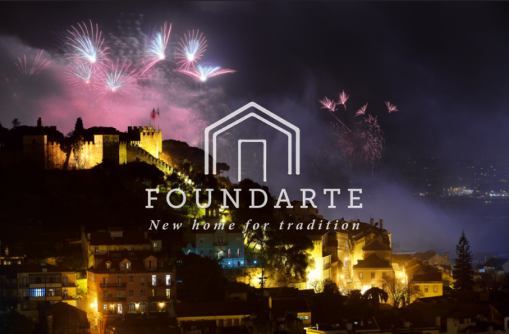 house of foundarte logo with lisbon fireworks